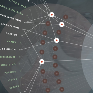 Detail showing connections between themes and survivors